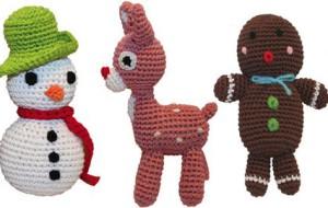Вязаные игрушки для маленькой собаки