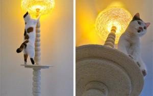 Лампа-когтеточка-лазалка