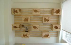 Подвижная стенка для котов