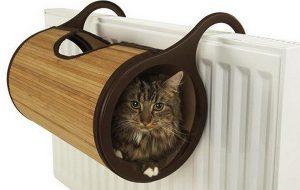 Подвесная кровать на батарею для кошки